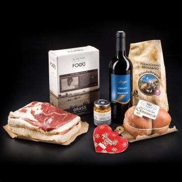 Regali Food Senza Panettone: Salumi e Chianti