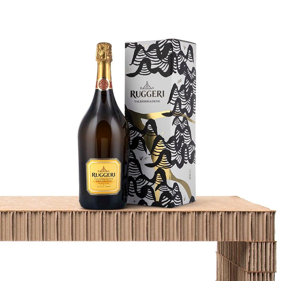 Magnum Bottles Wine Champagne Gifts: Prosecco Superiore di Valdobbiadene Docg Giall'oro