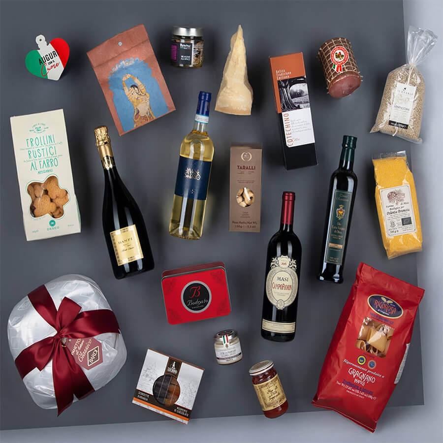 Panettone Bardi & Gourmet Italian Food Gift Baskets: Antiche Storie