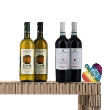 Confezioni Vino: una coppia di Bottiglie d'Eccellenza dei Vitigni del Centro Italia