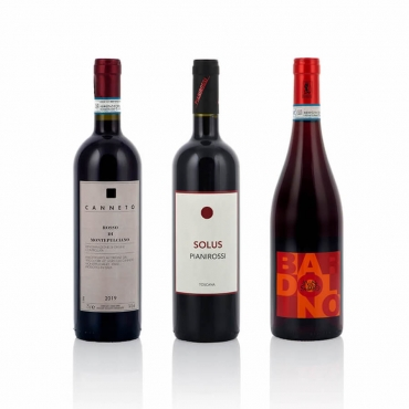 Confezione da 4 Vini della Tenuta Pianirossi: Cesti Natalizi Toscana