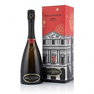 Champagne & Sparkling Wine Gift Basket: FRANCIACORTA Teatro alla Scala Brut 2010