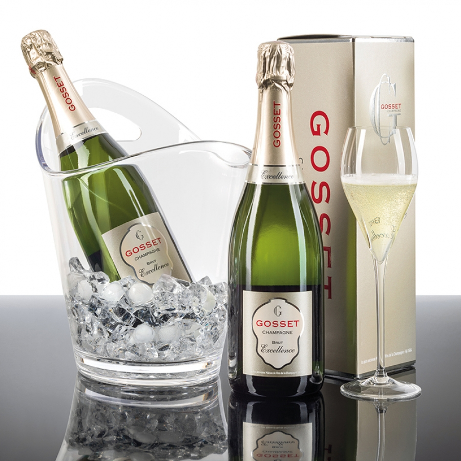 Champagne & Sparkling Wine Gift Basket: Champagne Brut Excellence