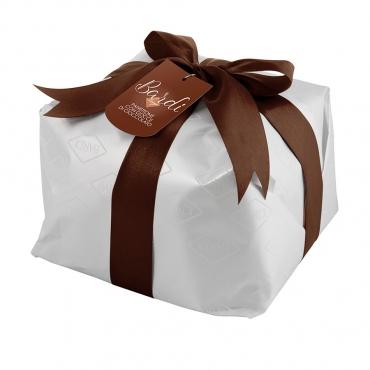 Panettone di Pasticceria con Gocce di Cioccolato Bardi (Tipo Basso) incartato kg 1