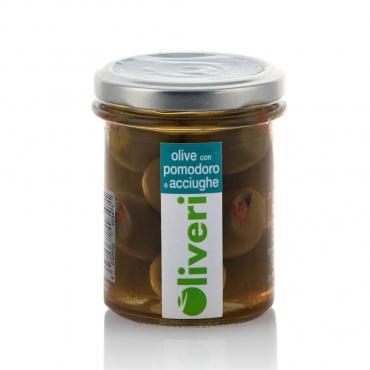 Olive al pomodoro e acciughe Oliveri g 180