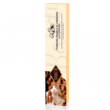 Bardi crunchy cremona nougat with Italian almonds in a box - g 100