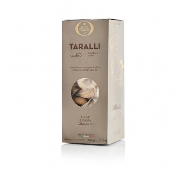 Terre di Puglia Extra Virgin Olive Oil Taralli (crisp savoury crackers)