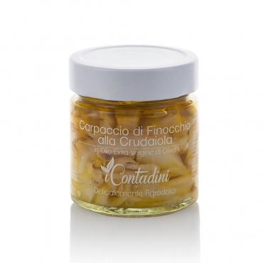 Carpaccio di Finocchi alla Crudaiola in Olio Extravergine d'Oliva I Contadini g 230
