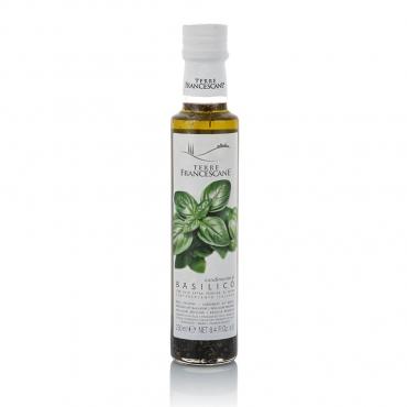 Condimento con Olio Extravergine d'Oliva al Basilico Terre Francescane cl 25