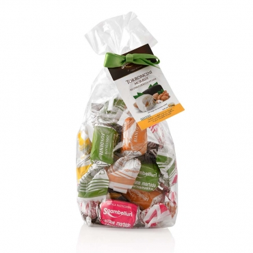 Sgambelluri Soft Chocolate Coated Nougat pralines mix in a bag