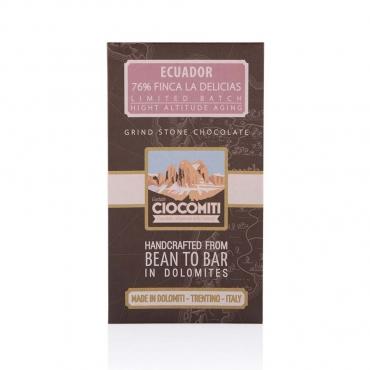 Cioccolato affinato in Alta Quota e macinato a pietra Ecuador 76% CiocoMiti g50