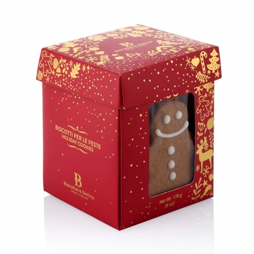 Biscotti Artigianali di Natale al Caramello e Con Omino di Panpepato Bettina g 170