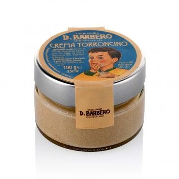 Crema al Torroncino con Torrone Nocciole Piemonte IGP Barbero g 100